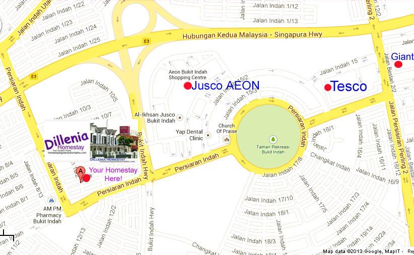Homestay Near Legoland Malaysia : Where are We? Maps