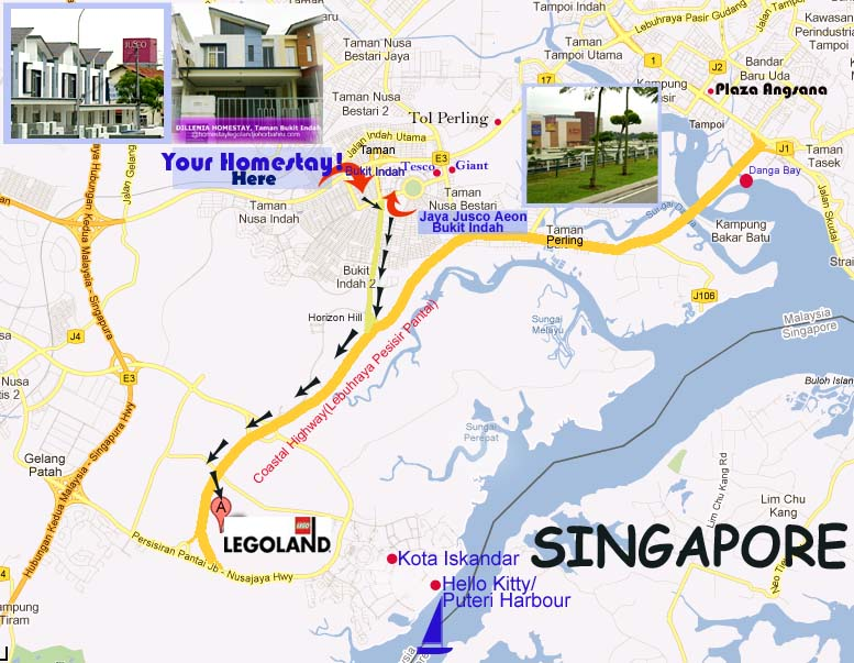 Map to homestay lego