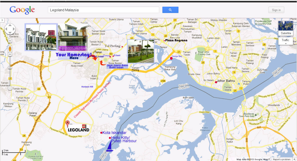 Legoland Malaysia Maps to Homestay