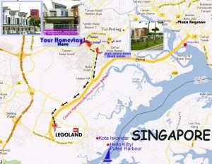 homestay-to lego-map Dillenia Homestay ke Legoland