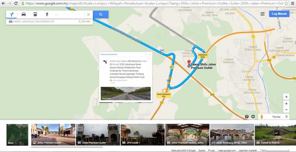Homestay Legoland : KL to JPO Johor Premium Outlet Maps
