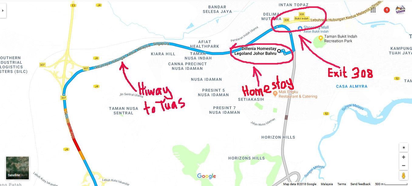 Homestay Near Tuas - Dillenia Homestay-http://www.homestaylegolandjohorbahru.com/blog