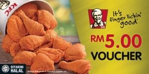 Promo KFC cash-voucher-rm5 dillenia homestay